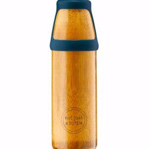 Afbeelding van bamboe drinkfles NotJustBamboo Yoga large met blauwe dop