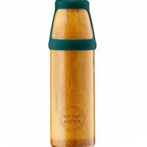 Afbeelding van bamboe drinkfles NotJustBamboo Yoga large met groene dop