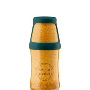 Afbeelding van bamboe drinkfles NotJustBamboo met groene dop