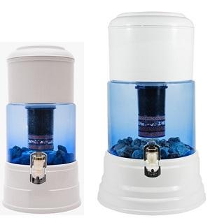 Aqualine 5 en 12 glazen waterfiltersystemen