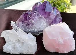 Drie eenheid mineraalstenen